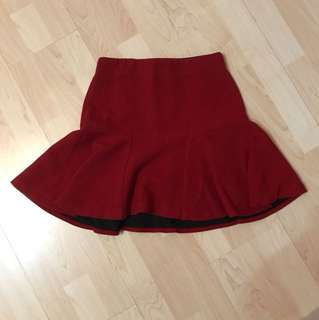 Zara Red Skater Skirt