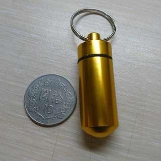 🚚 小容量 藥品盒 防水盒 小藥罐 鋁合金 防水 藥瓶 Geocaching 地理藏寶