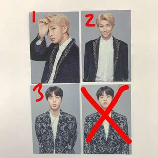 BTS WINGS TOUR THE FINAL MINI PHOTOCARD
