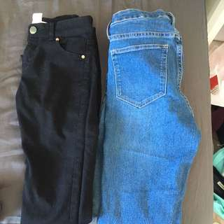 H&M jeggings both size 25