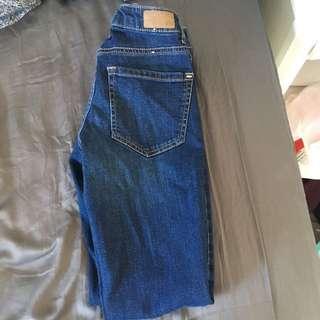 Garage dark wash jeans size 00