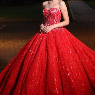 Red ball gown *for rent*
