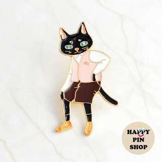 Mr Cat Enamel Pin