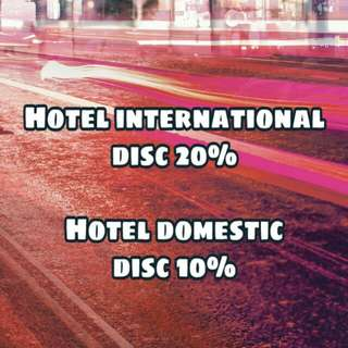 Voucher hotel disc 20%