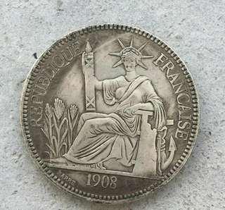 古玩外國英國洋銀五元
