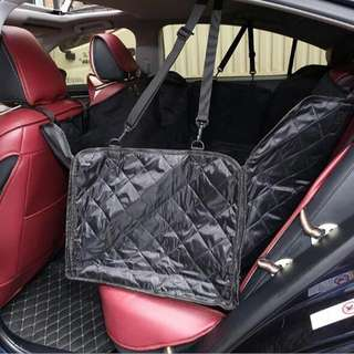 Washable Pet Hammock Rear Back Seat Car Cover Protector Two-Seat Dog Car Mats Pet Booster Seat Cushion Nonslip Dog Car Carrier