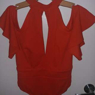 Red Mendocino Bodysuit - BNWT