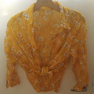 Vintage Yellow Blouse