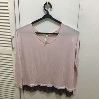 Stradivarius Old Rose Long Sleeves Top