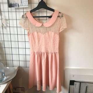 Pink vintage look dress Size 6