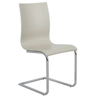 GREY & CHROME DINING CHAIR $80