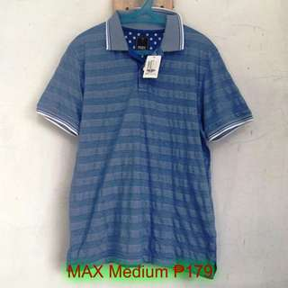 MAX Mens Short Sleeves Polo T-Shirt Athletic Sports Medium