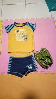 Rash Guard and Aqua Shoes