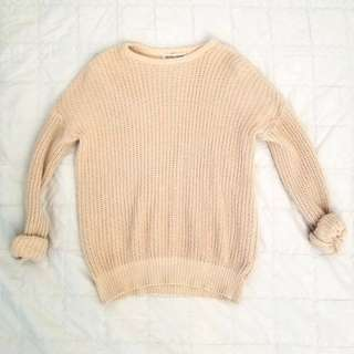 AA Fisherman Crewneck Beige Small