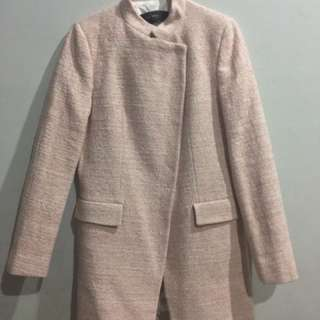 Zara basic pink coat