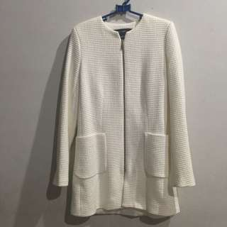 ZARA coat in white