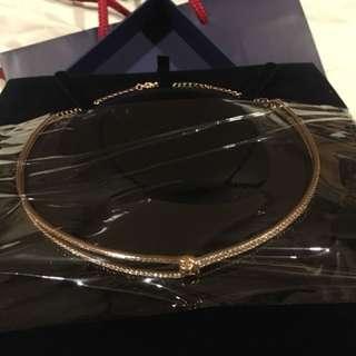 Swarovski jewellery ladies rose gold choker necklace