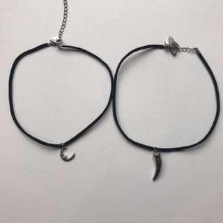 2 Choker necklaces