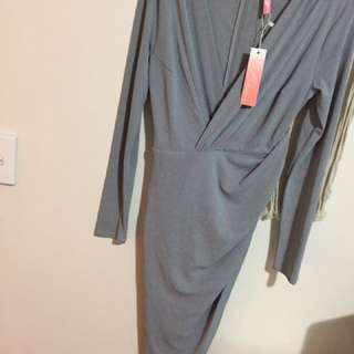 Lush grey dress from Chiffon Boutique