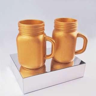 GOLD MASON JAR