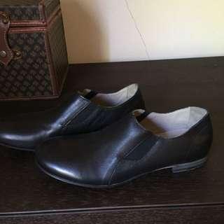 Nylon leather flats