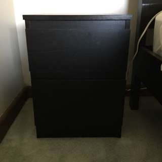 IKEA 2 drawer bedside table
