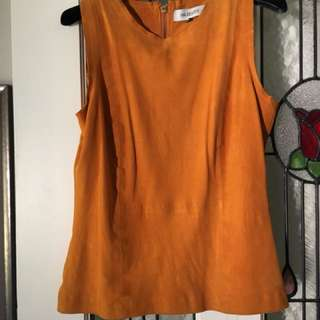 Maurice & Eve suede top