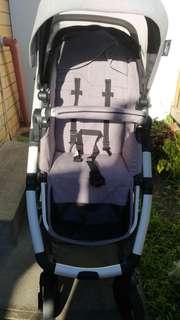 Mothers choice covet 4 wheel stroller grey