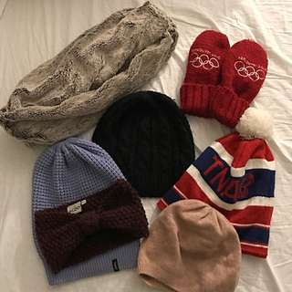 7 piece women's winter accessories