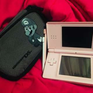 Coral pink Nintendo DS lite