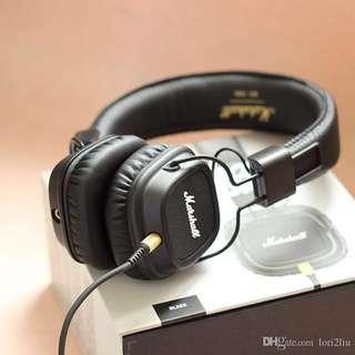 Marshall headphones black leather MAJOR 2 MODEL