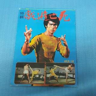 Bruce lee 李小龍 magazine 死亡遊戲 70年代 雜誌 70s   W-82