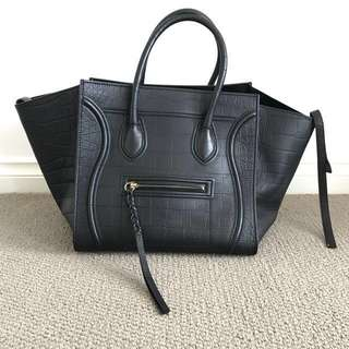 AUTHENTIC CELINE PHANTOM - CROC EMBOSSED