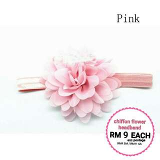 🆕2018🆕CHIFFON FLOWER HEADBAND RM9
