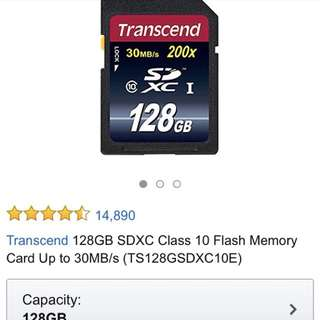 transcend 128GB sd card