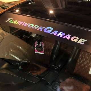 Car Wrap Sunshade Sticker Detailing
