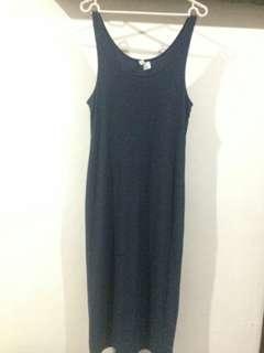 Dress HnM warna Blue Wash