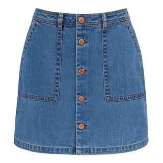 Denim Skirt, size 4
