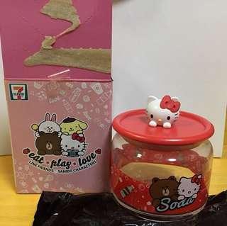 7-11 Line Friends X Sanrio Characters 樽樽滿JOY玻璃樽系列