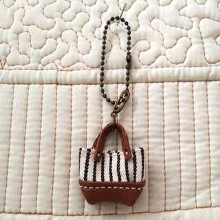 Handmade Mini Bag with Real Leather charm