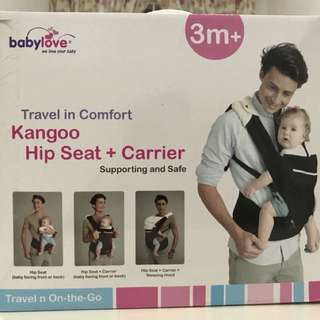 Kangoo Hip Seat + Carrier (Babylove) 现货 Travel in Comfort - Supporting and Safe Colour : Brown