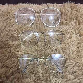 🚚 復古金框眼鏡 一副200