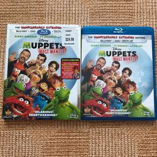 Muppets Most Wanted Dvd and Blu Ray