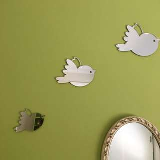 Crystal Ashley mirror bird set