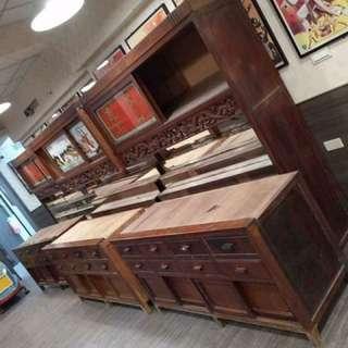 (小謝老舖)老店讓藏檜木中藥櫃 道具 收藏 老東西 非硝南木 非雞翅木 非雜木