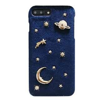 晨星藍色絨/星月(硬殼)iPhone case
