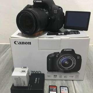 Canon 700D Complete Set