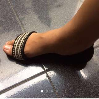 Flat shoes bata (black)