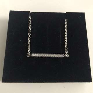 Pandora Silver Bracelet with Clear Cubic Zirconia