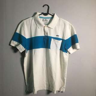 LACOSTE Pocket Polo Shirt White